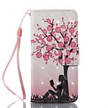 Case For Apple ipod touch 5 touch 6 Case Cover Card Holder Wallet with Stand Flip Pattern Full Body Case Tree Hard PU Leather