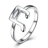 Жен. Классические кольца Любовь Простой стиль Классика Мода Pоскошные ювелирные изделия Стерлинговое серебро Музыкальные ноты Бижутерия