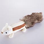 Игрушка для собак Игрушки для животных Плюшевые игрушки Игрушки с писком Милый стиль Скрип Белка Искусственный мех
