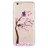 Случай для яблока iphone 7 плюс iphone 7 крышка картины задняя крышка случая цветок вала мягкая tpu для iphone 6s плюс iphone 6 плюс