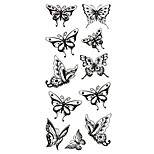Temporary Chest Body Animal Series 3D Rose Waterproof Tattoos Stickers Non Toxic Glitter Large Fake Tattoo Halloween Gift 22*15cm