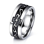 Men's Band Rings AAA Cubic Zirconia Basic Fashion Vintage Hip-Hop Gothic Classic Titanium Steel Circle Jewelry For Party Birthday Gift