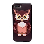 Case for Apple iPhone 7 Plus 7 Frosted Embossed Pattern Back Cover Animal Owl Soft TPU 6s Plus 6 Plus 6s 6