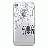 Для iphone 7plus чехол для крышки прозрачный узор задняя крышка чехол для животных Хэллоуин паук soft tpu для iphone 7 6splus 6plus 6s 6 5