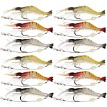 12 pcs Fishing Lures Soft Bait Jerkbaits Craws / Shrimp g/Ounce,90 mm/3-1/2