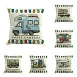 Set Of 5 Novelty Eyelash Printing Pillow Cover Creative Square Cotton/Linen Pillow Case