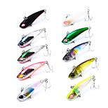 HiUmi 1 Pc Plastic Fishing Lure 4.2cm 3.3g Mini Metal VIB Lure Fishing Bait 12# Hook Fishing Tackle Random Color