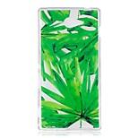 Кейс для сони m2 xa чехол для корпуса зеленый лист шаблон tpu материал imd craft мобильный телефон кейс
