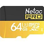 Netac 64g uhs-i u3 карта памяти для мобильных телефонов tf (micro-sd) карта для мониторинга камеры карта памяти