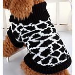 Собака Свитера Одежда для собак На каждый день Зебра Черный/Белый
