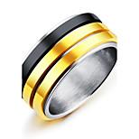 Муж. Классические кольца Мода Винтаж Elegant Титановая сталь Круглый Бижутерия Назначение Свадьба Обручение Официальные Для вечеринок Для