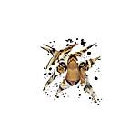 Недорогие -Животные Мультипликация Мода Наклейки Простые наклейки Декоративные наклейки на стены материал Украшение дома Наклейка на стену