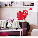 Heart-Shaped Sitting Room Bedroom Specular Adornment Wall Stick