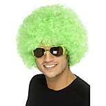 Fashion Green Color Wig For Black Women Afro Curly Synthetic Wigs For Halloween