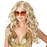 Long Curly Blonde Heat Resistance Fiber Synthetic Hair Party Cosplay Full Synthetic Wigs