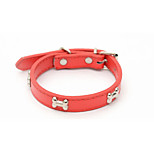 Collar Portable Solid Bone PU Leather