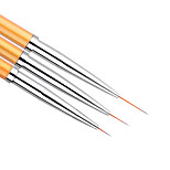 3Pcs/set Gold Nail Art Lines Painting Pen Brush Professional High Quality UV Gel Polish Tips 3D Design Manicure Drawing Tool Kit