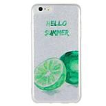 Case for apple iphone 7 plus iphone 7 cover glow in the dark pattern back cover case word / фраза фрукты блеск сияющий жесткий ПК для