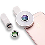 ESCASE Phone Lens Wide-Angle Lens Macro Lens Aluminum LED Light Cell Phone Camera Lenses Kit for Samsung Android Smartphones iPhone