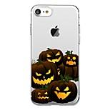 Для телефона 7plus прозрачный узор задняя крышка чехол для еды Хэллоуин мягкий tpu для iphone 7 6splus 6plus 6 6s 5 5s se