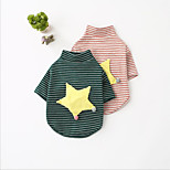 Dog Sweatshirt Dog Clothes Casual/Daily Cosplay Sports Halloween Christmas Stars Blushing Pink Green