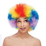 Fashion Multi Color Wig For Black Women Afro Curly Synthetic Wigs For Halloween