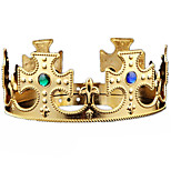cheap -Halloween Christmas Birthday King Crown Mounted Gem Jewel Head Gear Cosplay Carnaval Masquerade Party