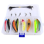 Anmuka 23Pcs/Box 7cm 8g Fishing Lure Minnow Hard Bait with 2 Fishing Hooks Fishing Tackle Lure 3D Eyes Crankbait Minnows