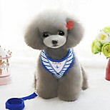Harness Leash Portable Foldable Safety Adjustable Stripe Cotton