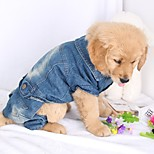 Dog Clothes/Jumpsuit Dog Clothes Casual/Daily Solid Light Blue Blue