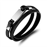 Men's Wrap Bracelet Punk Leather Geometric Jewelry For Street