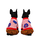 Dog Clothes/Jumpsuit Dog Clothes Casual/Daily Stripe Blue Red
