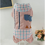 Dog Clothes/Jumpsuit Dog Clothes Casual/Daily Plaid/Check Red Coffee
