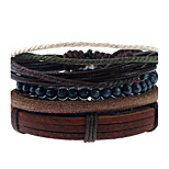 Men's Women's Leather Bracelet Fashion Leather Geometric Jewelry For Wedding Party