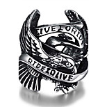 Men's Knuckle Ring Jewelry Punk Personalized Stainless Steel Alloy Geometric Eagle Jewelry For Halloween Street