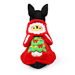 Dog Costume Dog Clothes Christmas Cartoon Red Coffee