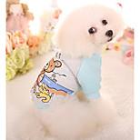 Dog Sweatshirt Dog Clothes Casual/Daily Cartoon Blue Fuchsia