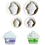 4PCS/Lot Ice Cream Shape Cookie Fondant Plastic Molds Embosser Mold Biscuits Mould Diy Cake Decoration