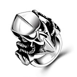 Men's Knuckle Ring Jewelry Punk Personalized Stainless Steel Alloy Geometric Toy Shape Jewelry For Halloween Street