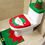 3pc/set Christmas Elves Toilet Seat Cover Toilet Sets Christmas Decorations Bath Mat Holder Closestool Lid Toilet CoverNavidad