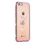 Per iPhone 6 iPhone 6 Plus Custodie cover Con diamantini Placcato Traslucido Custodia posteriore Custodia Animali Morbido TPU per Apple
