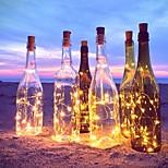 Недорогие -2m 20-led медный провод шнур свет с бутылкой пробкой для стеклянной бутылки ремесла фея valentines свадебное украшение лампа вечеринка