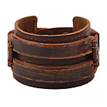 Men's Leather Bracelet Fashion Hip-Hop Leather Circle Jewelry For Casual Stage