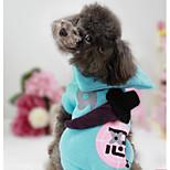 Собака Толстовка Одежда для собак На каждый день Геометрические линии Синий Розовый
