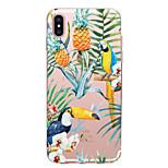 For iPhone X iPhone 8 Case Cover Transparent Pattern Back Cover Case Animal Fruit Flower Soft TPU for Apple iPhone X iPhone 8 Plus iPhone