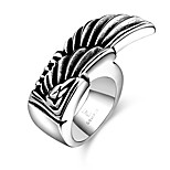 Men's Knuckle Ring Jewelry Punk Personalized Stainless Steel Alloy Geometric Wings / Feather Jewelry For Halloween Street