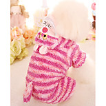 Dog Jumpsuit Dog Clothes Casual/Daily Stripe Blue Pink Costume For Pets