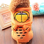 Dog Costume Dog Clothes Casual/Daily Cartoon Orange