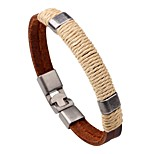 Men's Women's Leather Bracelet Handmade Fashion Leather Round Jewelry For Daily Going out