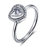 Жен. Классические кольца Классика Стерлинговое серебро В форме сердца Бижутерия Назначение Обручение